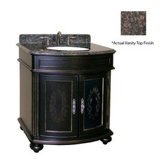"36"" Arlington Single Sink Vanity w/ Brown Top - Ebony"