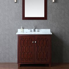 "36"" Seacliff Turnberry Single Sink Bathroom Vanity - Walnut"