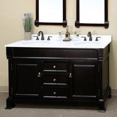 "60"" Double Sink Bathroom Vanity - Espresso/White Top"
