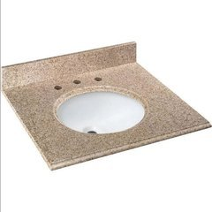 "25""x22"" Single Basin Granite Vanity Top - Beige"