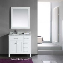 "36"" London Single Sink Bathroom Vanity - White"
