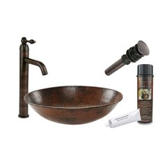 "17"" x 12"" Oval Vessel Sink Package - Oil Rubbed Bronze"