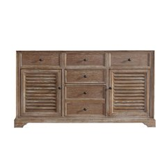 "59"" Savannah Single Cabinet Only w/o Top - Driftwood"