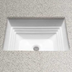 "20-1/2"" x 16-1/2"" Undermount Bathroom Sink - Bone"