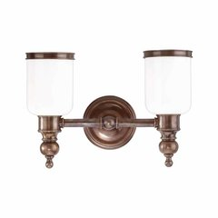 Chatham 2 Light Bathroom Vanity Light - Distressed Bronze