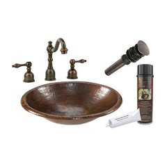 "17"" x 13"" Oval Drop-In Sink Package - Oil Rubbed Bronze"