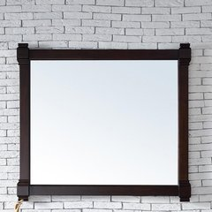 "43"" x 40"" Brittany Wall Mount Mirror - Burnished Mahogany"