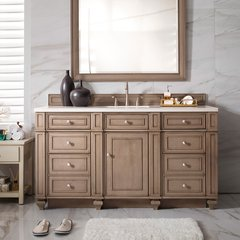 "60"" Bristol Single Cabinet Only w/o Top - White Wash Walnut"