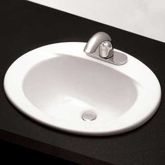 "20"" x 17"" Drop In/Self Rimming Bathroom Sink - Bone"