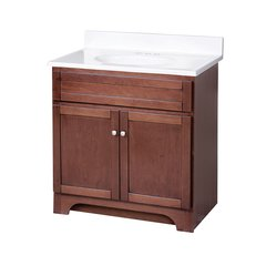 "30"" Columbia Single Sink Bathroom Vanity - Cherry"