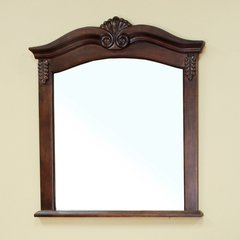 "38"" x 33"" Wall Mount Mirror - Medium Walnut"