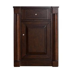 "26"" New Haven Single Cabinet Only w/o Top-Burnished Mahogany"
