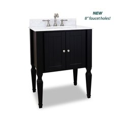 "28"" Jensen Single Sink Vanity - Black"