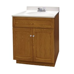 "24"" Heartland Single Sink Bathroom Vanity w/ Faucet - Oak"