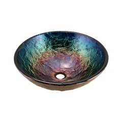 "16"" x 5-1/2"" Vessel Bathroom Sink - Blue Reflections"