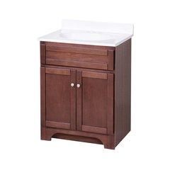 "24"" Columbia Single Sink Bathroom Vanity - Cherry"