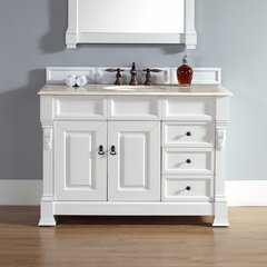 "48"" Brookfield Single Vanity w/ Galala Beige Top-Cott White"