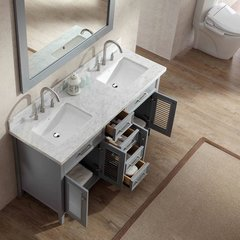 "61"" Kensington Double Sink Bathroom Vanity - Gray"