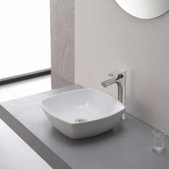 Aquila One Handle Vessel Bathroom Faucet w/ Drain-BrushNickl