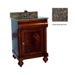 "24"" John Adams Single Sink Vanity w/ Brown Top- Brown Cherry"