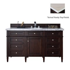 "60"" Brittany Vanity w/Galala Beige Top - Burnished Mahogany"