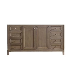 "60"" Chicago Double Cabinet Only w/o Top -White Washed Walnut"
