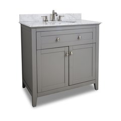 "36"" Chatham Shaker Single Sink Bathroom Vanity - Gray"