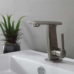 Novus One Handle Single Hole Bathroom Faucet w/ Drain-BrshNk