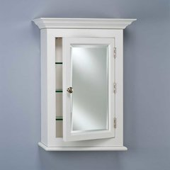 "Wilshire 22"" Wall Mount Mirrored Medicine Cabinet - White"