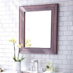 "29"" x 33"" Cabernet Wall Mount Mirror - Oak"