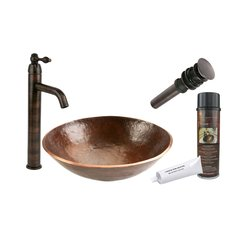 "16"" x 16"" Round Vessel Sink Package - Oil Rubbed Bronze"
