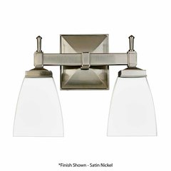 Kent 2 Light Bathroom Vanity Light - Polished Chrome