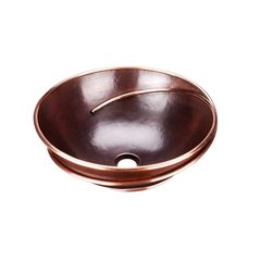 "15-3/4"" Dia Limited Edt Above Counter Bathroom Sink - Copper"