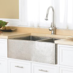 "33"" x 22"" Farmhouse Apron Kitchen Sink - Brushed Nickel <small>(#CPK576)</small>"