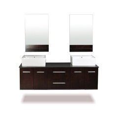"60"" Skyline Double Sink Bathroom Vanity - Espresso"