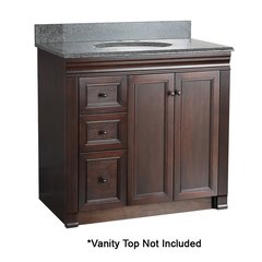 "36"" Shawna Cabinet Only w/o Top Left Side Drawers - Tobacco"