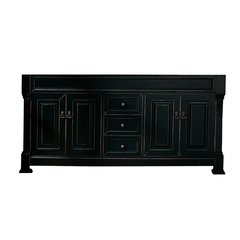 """72"""" Brookfield Double Cabinet Only w/o Top - Antique Black"""