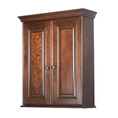 "24"" Hawthorne Bathroom Wall Cabinet - Dark Walnut"