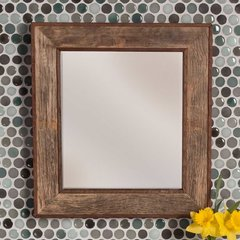 "18-3/4"" x 20-3/4"" Bordeaux Wall Mount Mirror - Oak"