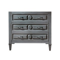 "36"" Kelly Single Cabinet Only w/ Top - Grayish Blue"