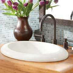 "21"" x 15"" Cuyama Drop-In Bathroom Sink - Pearl"