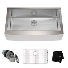 "36"" Farmhouse Single Bowl Kitchen Sink-Stainless Steel"