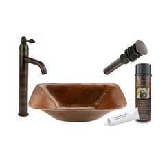 "17"" x 13"" Rectangular Vessel Sink Package- Oil Rubbed Bronze"