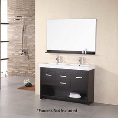 "48"" Citrus Double Sink Bathroom Vanity - Espresso"