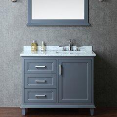 "42"" Seacliff Nantucket Single Sink Vanity - Whale Gray"