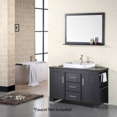 "48"" Washington Single Vessel Sink Bathroom Vanity - Espresso"