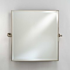 "Radiance Gear Tilt 24"" Square Mirror - Satin Nickel"