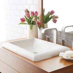 """21-1/2"""" x 15-1/2"""" Montecito Drop-In Bathroom Sink - Pearl"""