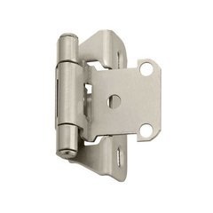 Partial Wrap 1/4 inch Overlay Satin Nickel Sold Per Pair