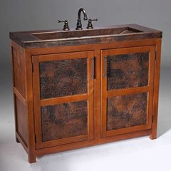 "42"" Grande Rustic Single Sink Bathroom Vanity - Wood"